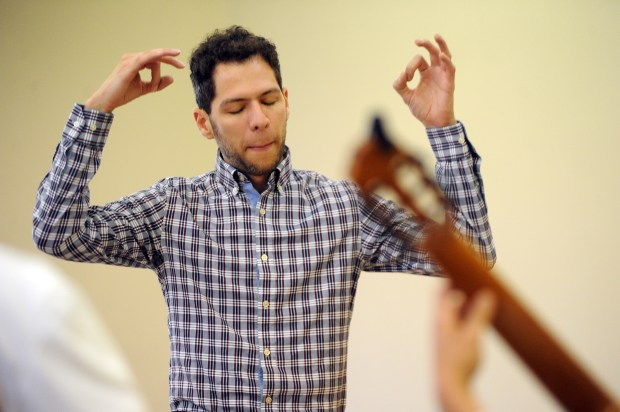 Josinaldo Costa teaches classical guitar at Servite High School. (Photo by Kent Treptow, contributing photographer)