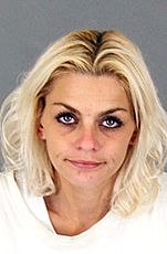 Jennifer Shipman, 34, was arrested on suspicion of second degree robbery after authorities received a report that she had been stealing items inside a store and fighting with theft prevention personnel who tried to stop her on Thursday, Sept. 21, sheriff's officials say. (Courtesy of Riverside County Sheriff's Department).