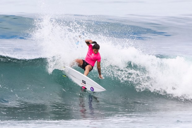 Silvana Lima of Brazil, dominated the finals to take home the win in the Swatch Pro. (Courtesy of World Surf League)
