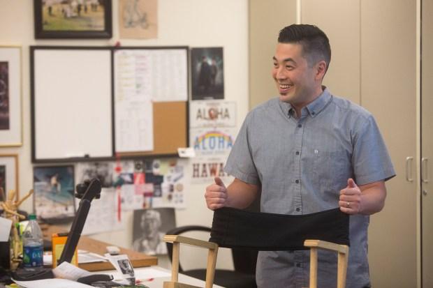 Matthew Takeno teaches digital media, graphics, and studio art at Woodbridge High School. (Photo by Drew A. Kelley, Contributing Photographer)