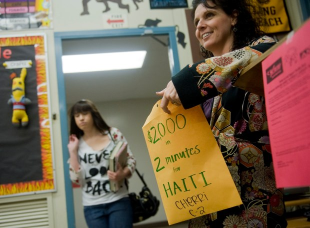 Mindy Cherri teaches fine arts at Bolsa Grande High School. (Photo by Ana Venegas, Orange County Register/SCNG)
