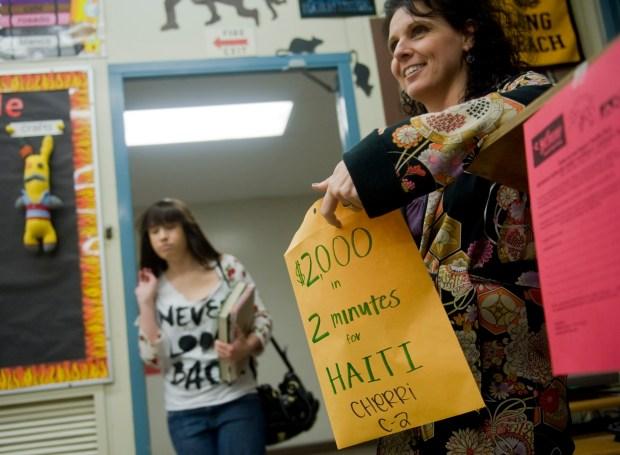 Mindy Cherri teaches fine arts at Bolsa Grande High School. (Photo by Ana Venegas, Orange County Register/SCNG)