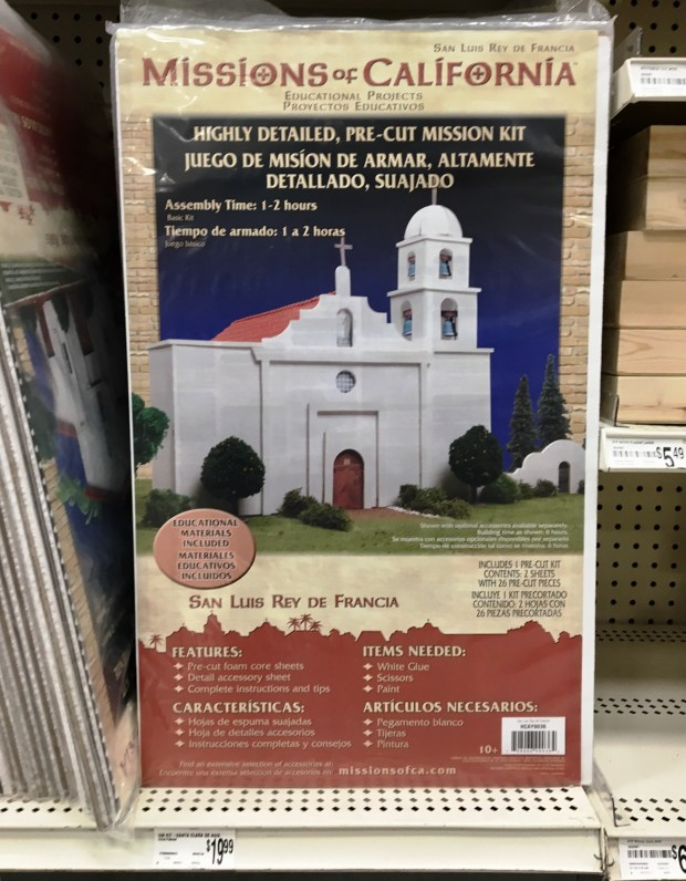 Mission kit for sale in September 2017 at Michael's stores for $19.99. Photo by Marla Jo Fisher