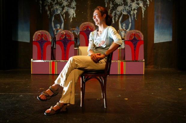 Pauline Maranian teaches theater and is the visual and performing arts department chairperson at Estancia High School. (Photo by Steve K. Zylius, Orange County Register)