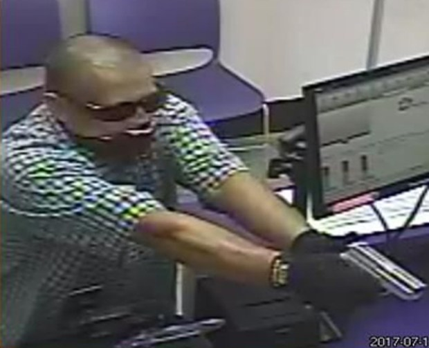 A man robbed the Metro PCS store in the 1600 block of 1st Street in Santa Ana on July 17. Santa Ana Police believe the man may have hit six other local businesses. (Photo courtesy of Santa Ana Police Department)