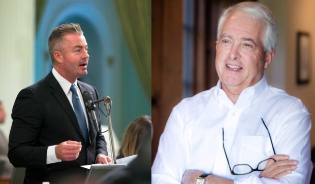 Republican candidates for governor Travis Allen, left, and John Cox. (AP Photo/Rich Pedroncelli and Courtesy John Cox Campaign)