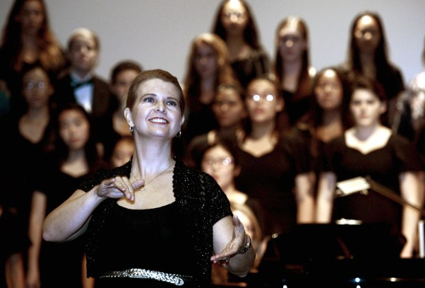 Tina Peterson teaches choral music at Irvine High School.(Photo by Bill Alkofer, Orange County Register/SCNG)