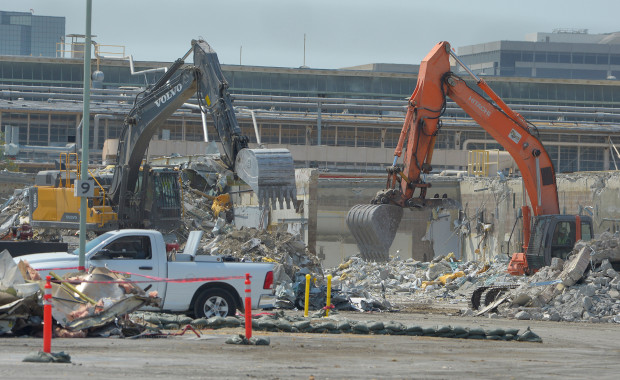 Rocketdyne was a rocket engine manufacturing plant that began in 1955. Buildings at the site contain some asbestos, and soil at the site has to be cleaned of the chemicals associated with the manufacturing process. The site is being razed for development. Canoga Park, CA. August 24, 2016. (Photo by John McCoy/So Cal News Group)