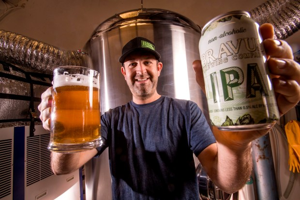 Philip Brandes, founder and owner of Bravus, was inspired by his observations that craft beer kept getting more popular. He was also motivated by a beer-loving friend who had to cut back on his alcohol consumption. (Photo by Paul Rodriguez, Orange County Register/SCNG)
