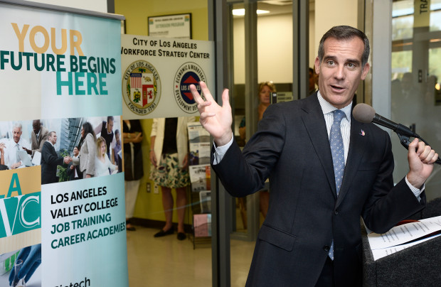 Los Angeles Mayor Eric Garcetti, who has just returned from Las Vegas, is headed to Paris for a climate-change meeting. (Photo by John McCoy, Los Angeles Daily News/SCNG)