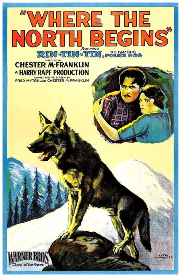 Books and films portraying dogs as heroes, such as this Warner Bros. movie starring Rin Tin Tin, were popular in the early decades of the 20th century.
