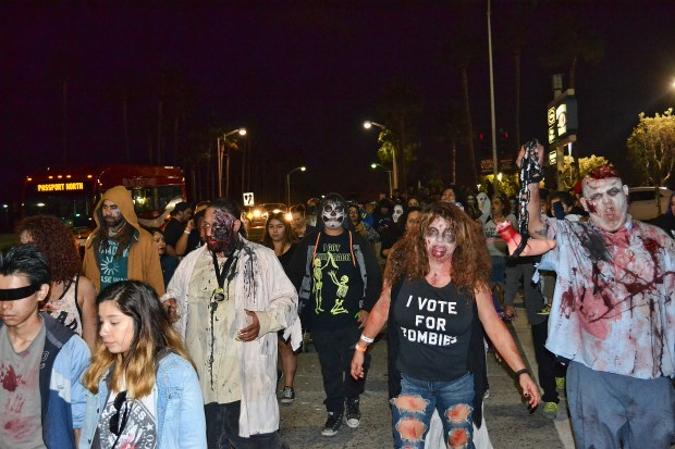 Scary zombies are all part of the show for the Long Beach Zombie Fest. Photo courtesy Long Beach Zombie Fest.