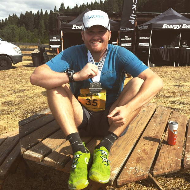 Tyler Hurst following a race in 2015.The Phoenix resident incorporates cannabis into his running routine. (Courtesy of Tyler Hurst)