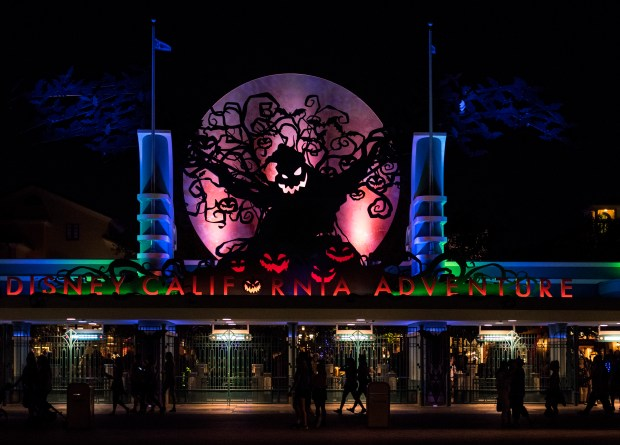 Disney California Adventure was in the Halloween spirit. Across the way Mickey's Halloween Party was in full swing at Anaheim's Disneyland on Tues., Oct. 24. (Photo by Cindy Yamanaka, Orange County Register/SCNG)