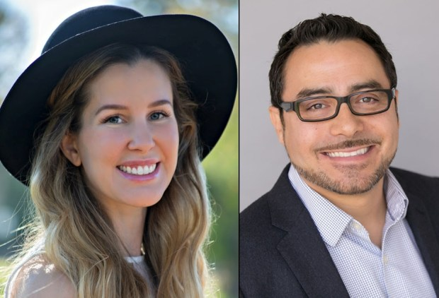 "Graduate student Karissa Fenwick is suing USC, alleging that her professor, Dr. Erick Guerrero, sexually harassed and abused her and was only given ""a slap on the wrist"" after a five-month investigation by the university. Guerrero reportedly describes himself as the ""Hot Latino Professor."" (Courtesy photos)"