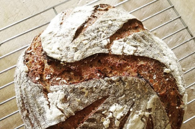 Join Christina Nelson of Demeter Bread & Pastry for a two hour whole-grain sourdough bread demonstration, discussion, and tasting. (Photo Courtesy of The Fermentation Farm)