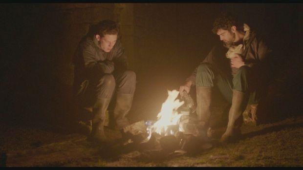 "Josh O'Connor, Alec Secareanu in ""God's Own Country."""