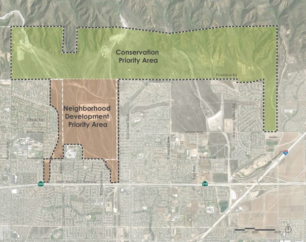 Overview of North Eastern Sphere Annexation Project area