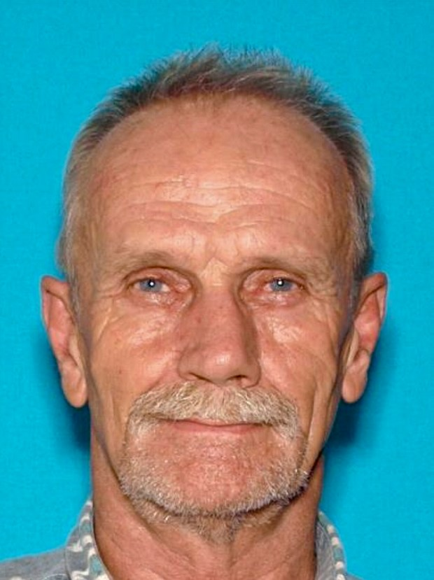 This undated driver's license photo provided by the Lake County Sheriff's Office shows Alan Ashmore, 61, of Clearlake Oaks, Calif. Deadly shootings Monday, Oct. 23, 2017, in a small lakeside Northern California community include at least one police officer, authorities said. (Lake County Sheriff's Office via AP)