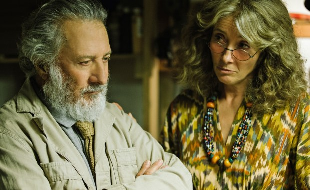 "Dustin Hoffman and Emma Thompson in ""The Meyerowitz Stories (New and Selected)."""
