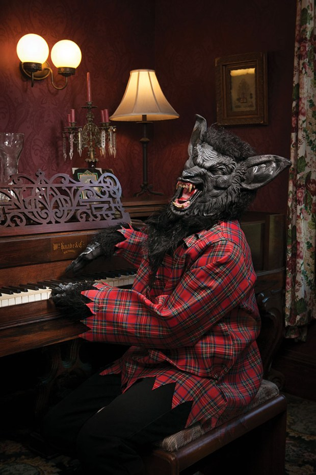 Parker Olthoff, 13, of Mission Viejo, plays the part of the Big Bad Wolf in OC Family's Fairytale Manor Halloween package. Shot on location at Heritage Museum of Orange County. Makeup by Butterfli Me makeup studio in Irvine. Teen Wolf costume, $59.99, available at HalloweenCostumes.com. (Photo by Ralph Palumbo, contributing photographer)