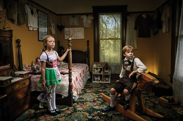 Twins Mackenzie and Chance Griffith, 8, of Anaheim Hills, play the parts of Hansel and Gretel in OC Family's Fairytale Manor Halloween package. Shot on location at Heritage Museum of Orange County. Makeup by Butterfli Me makeup studio in Irvine. Lederhosen Boy costume, $34.99, and Child Gretel costume, $19.99, both available at HalloweenCostumes.com. (Photo by Ralph Palumbo, contributing photographer)