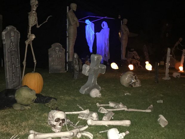The Chavez family has decorated their house at 1255 Monte Vista Drive in Riverside every Halloween for 25 years.