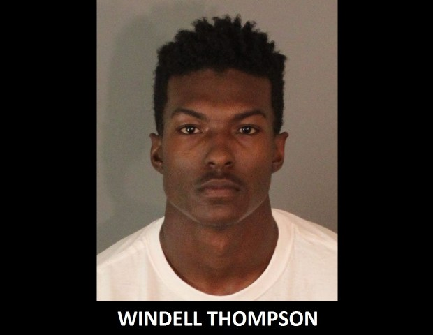 Windell Thompson, 21, an assistant football coach at La Sierra High, was arrested Oct. 13, 2017, on suspicion of unlawful intercourse with a minor and annoying and molesting a child, the Riverside Police Department said. (Courtesy of Riverside Police Department)