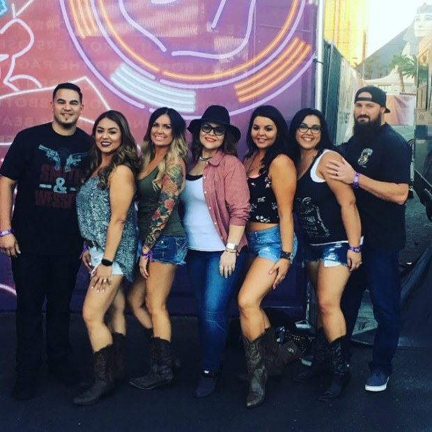 Lindsay Okray, third from left, attended the Route 91 Harvest festival with her friends.Courtesy photo