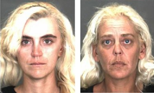 Chastity Doll, 26, a Loma Linda transient, and Michele Love, 41, of Yucca Valley. (Courtesy photos)