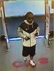 Surveillance camera footage of CVS pharmacy armed robbery suspect in Yucaipa on Sunday, Oct. 8. (Photo courtesy of San Bernardino County Sheriff's Department)