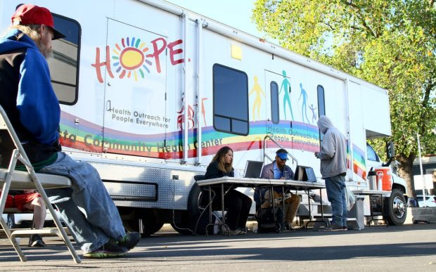 In Shasta County, hit hard by the opioid crisis, the 'Hope van' helps treat homeless addicts. Photo by Hung T. Vu for CALmatters