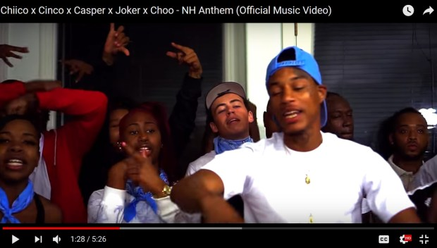 "Cameron Terrell, 18, appears in a video ""Chiico x Cinco x Casper x Joker x Choo Ð NH Anthem"" on YouTube"
