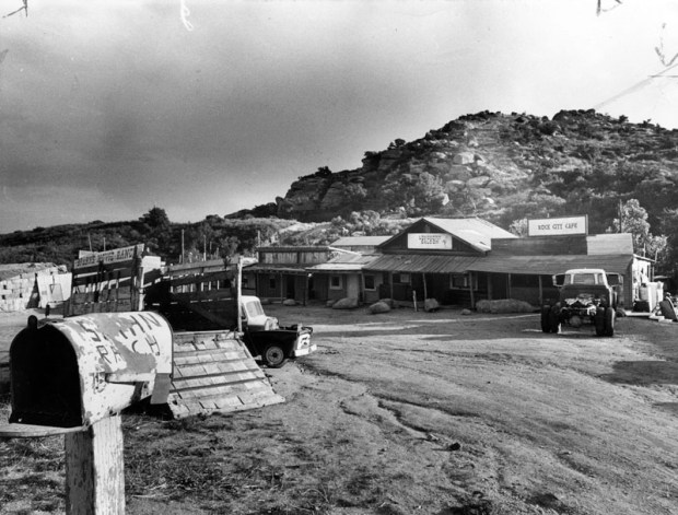 Spahn Ranch, located on Santa Susana Pass Road in Chatsworth, Feb. 1, 1971. (Photo courtesy Los Angeles Public Library)