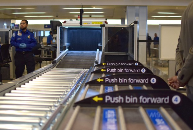 Several new Automated Screening Lanes were added to the Tom Bradley International Terminal at LAX to speed passenger wait times. Cynthia Washicko/Daily Breeze/SCNG