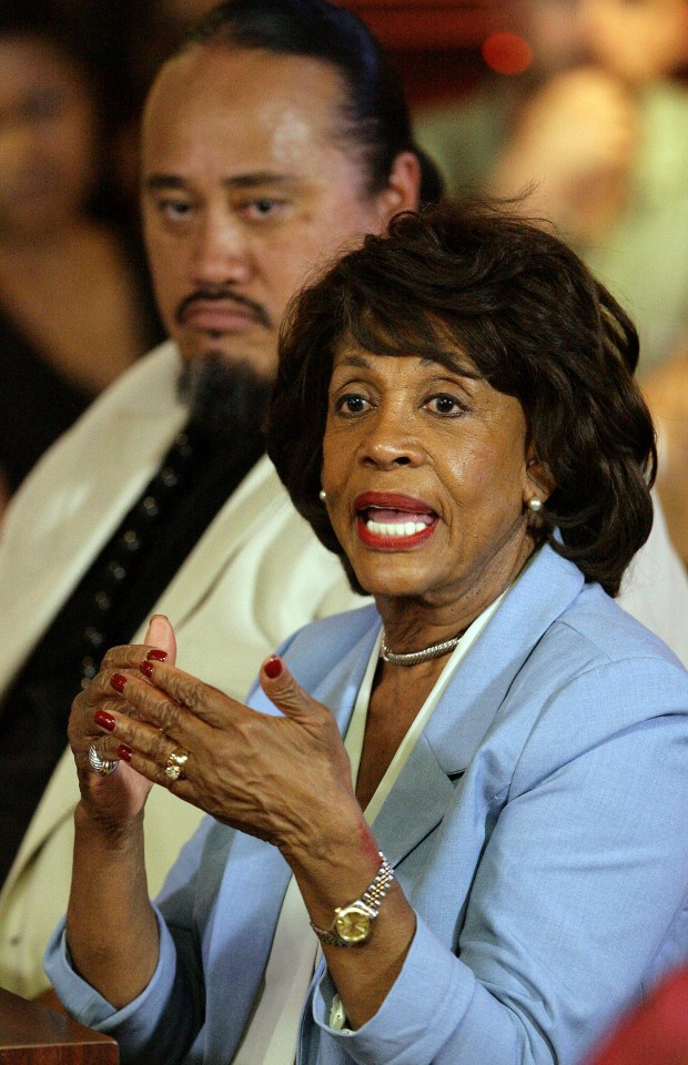 U.S. Representative Maxine Waters Thursday, June 1, 2016.