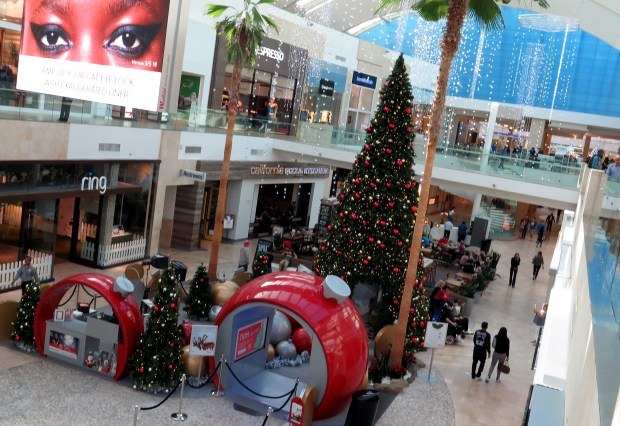 Westfield Topanga Mall on Tuesday, Nov. 21, 2017. (Photo by Dean Musgrove, Los Angeles Daily News)