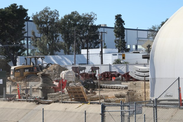 The construction site at the tunnel's entrance in Hawthorne
