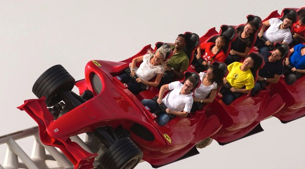 Formula Rossa at Ferrari World Abu Dhabi hits a top speed of 149 mph – 21 mph faster than America's fastest coaster, Kingda Ka at Six Flags Great Adventure in New Jersey. (Photo courtesy of Ferrari World Abu Dhabi)