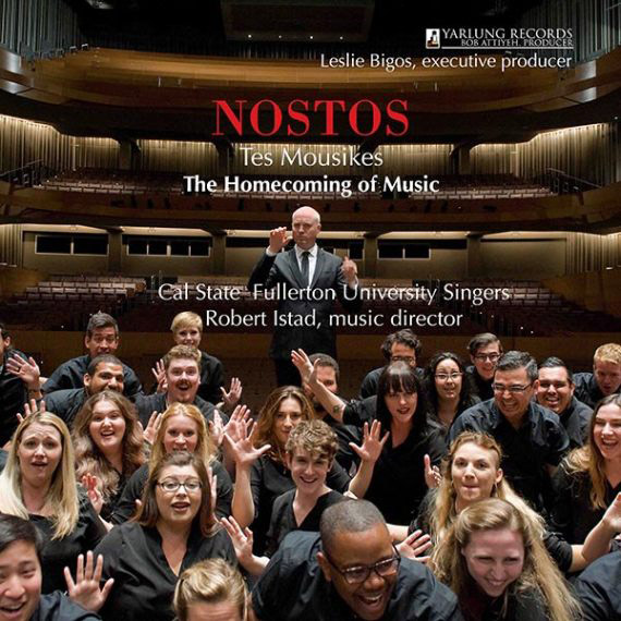 """Nostos: The Homecoming of Music"" is a compilation of pieces sung by Cal State Fullerton's University Singers on a summer tour of Europe. (Photo courtesy of Yarlung Records)"