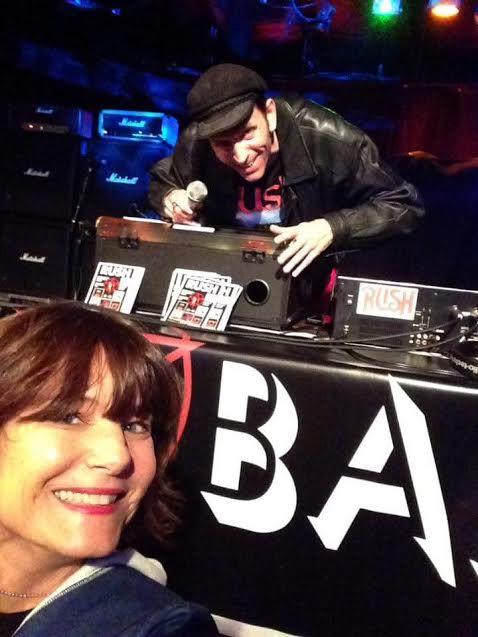 DJ Dave Skott and Rush fan Teresa Marillo at a previous Rush Bar event. On Dec. 29 Que Sera in Long Beach will host a night of music by the Canadian band Rush. (Photo courtesy Dave Skott)