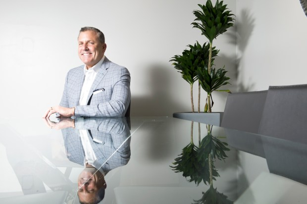 Rick Arvielo, CEO of New American Funding, one of Orange County's fastest growing companies, and a finalist for the Register's Top Workplaces. Photographed at the New American Funding offices in Tustin on Friday, October 27, 2017. (Photo by Matt Masin, Orange County Register, SCNG)