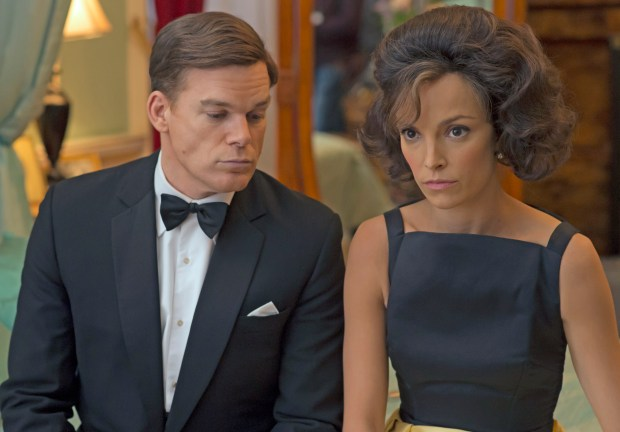 "In the second season of Netflix's ""The Crown,"" JFK (Michael C. Hall) and Jackie(Jodi Balfour)."