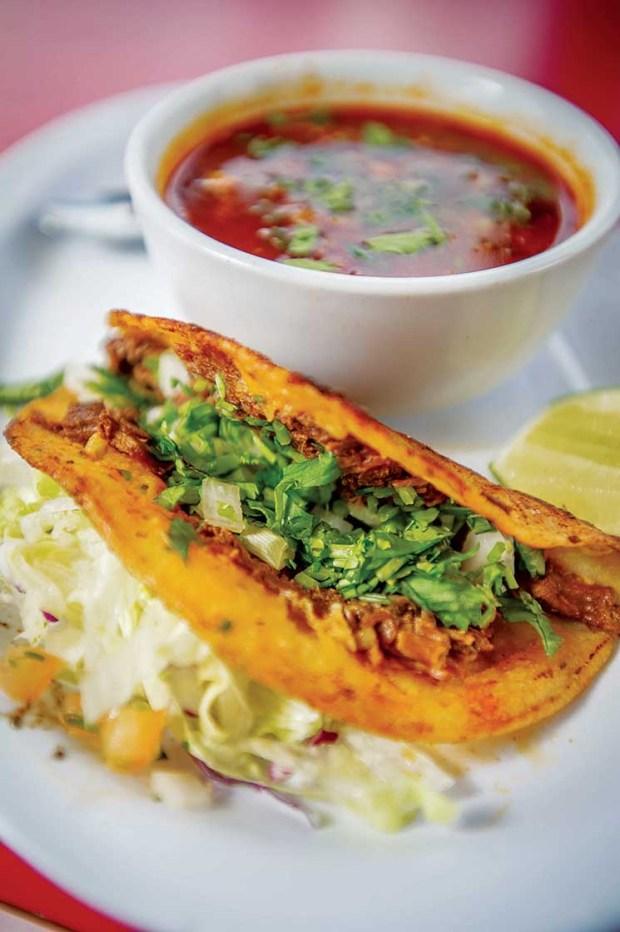 Tacos a la Plancha at Huicho's Tacos in Redlands, Nov. 1, 2017. (Eric Reed/Redlands Magazine)