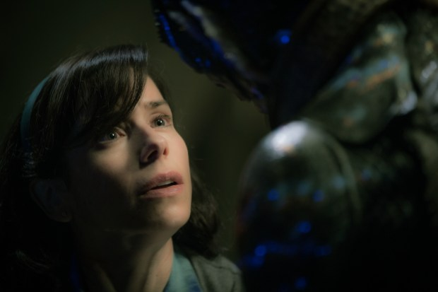 Sally Hawkins and Doug Jones in the film THE SHAPE OF WATER. Photo by Kerry Hayes. © 2017 Twentieth Century Fox Film Corporation All Rights Reserved