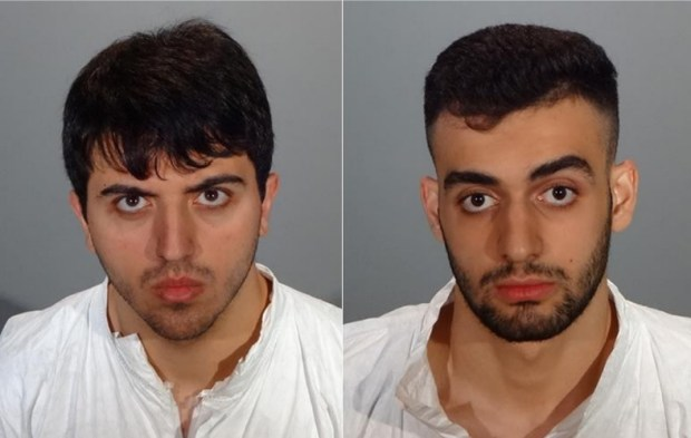 Gagik Sarkisjan, 20, left, and Narek Martirosyan, 18, were arrested on suspicion of burglary, along with a 17-year-old. (Courtesy Glendale Police Department)