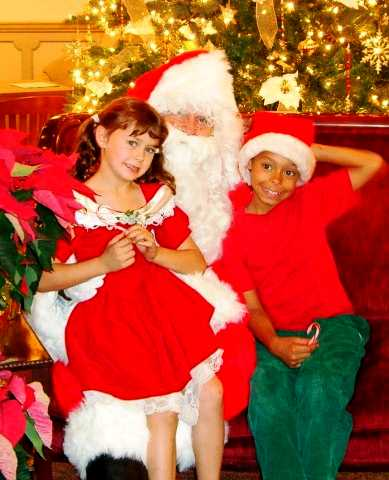 Curly Girl and Cheetah Boy when they still believed in Santa.