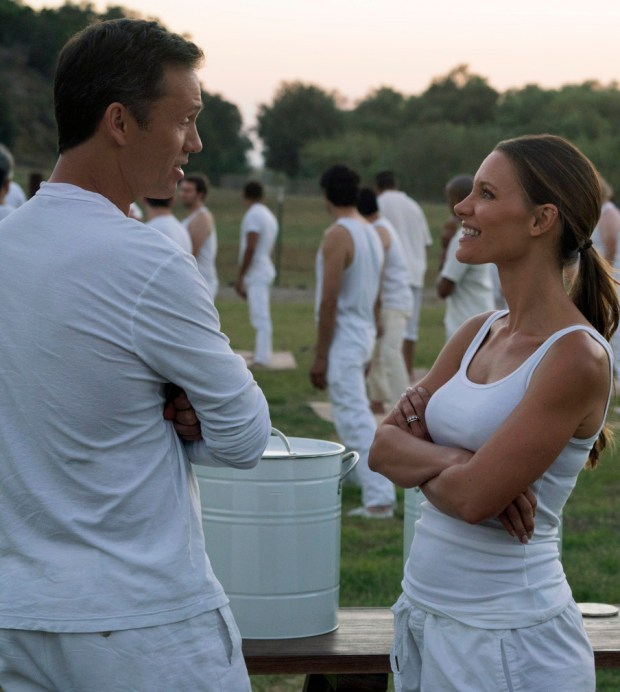 "Jeffrey Donovan and KaDee Strickland) in Season 2 of ""Shut Eye."""
