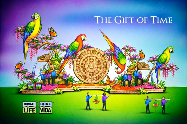 An artist's rendering shows the Donate Life float that will appear in the 2018 Rose Parade.Courtesy photo