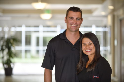 Zack Zarrilli and Vanessa Zarrilli are a husband and wife time who run SureFire CPR in Orange, California, on Tuesday, October 31, 2017. The company is a an industry leading CPR training center based in Orange County and a OC Register Top Workplace nominee. (Photo by Jeff Gritchen, Orange County Register/SCNG)